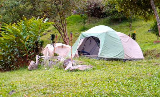 Our campsite at Reserva Ambiental.