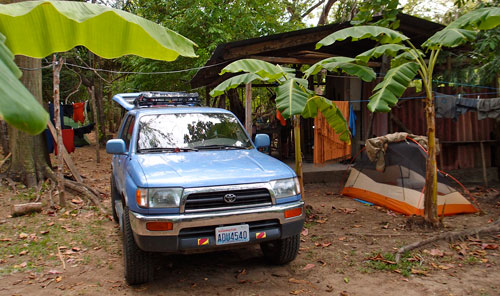 Our campground at Playa Carrillo.
