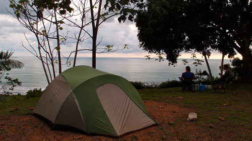 Our campsite at Uvita, way above the ocean in the jungle.