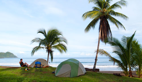 Our campsite at Playa Josecito.