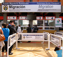 The Colombian migration office.