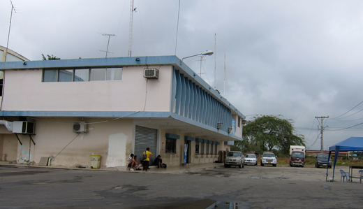 The customs building on the Ecuador side of the border.