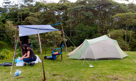 Our campsite in the Amazon.