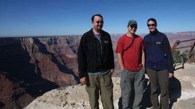 The three of us at the Grand Canyon.