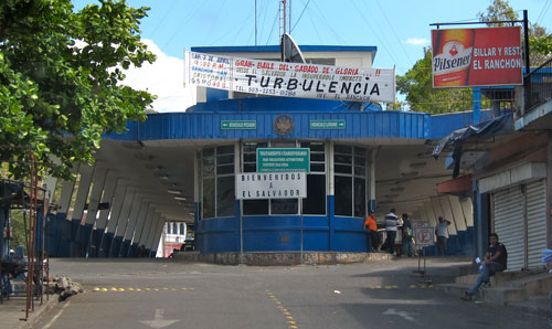 The El Salvadorian immigration building.