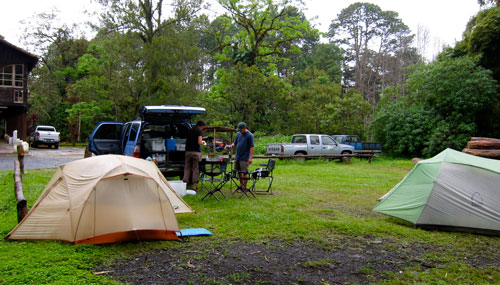 Our campground at Coban.