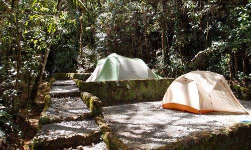 Another shot of our campsite at the Quetzal reserve.