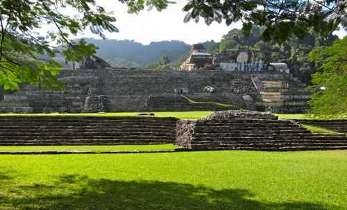 The palace in Palenque.