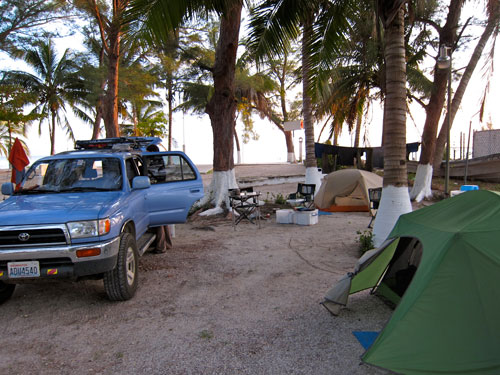 Our campground in Isla Aguada.