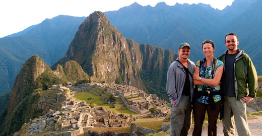 Us at Machu Picchu.