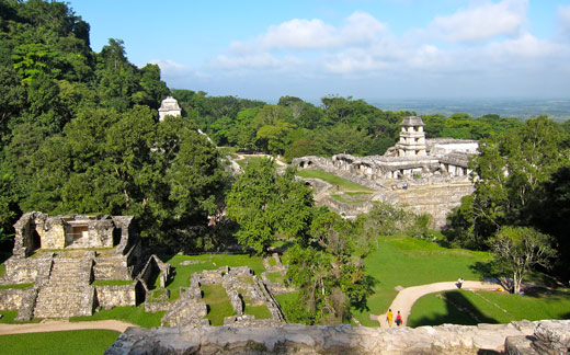 Palenque ruins in Mexico.
