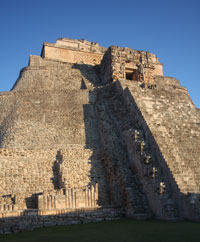 The pyramid in Uxmal.