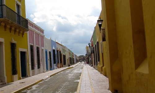 The colorful streets of Campeche.