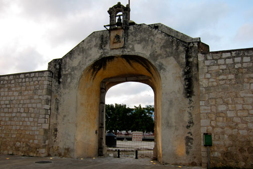Part of the wall surrounding Campeche.