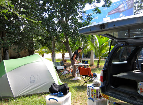 Our campsite near Uxmal.