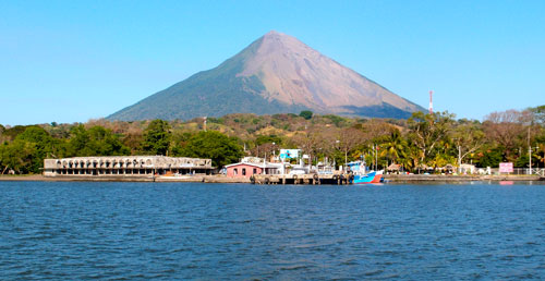 A view of Volcan Concepcion from the ferry.