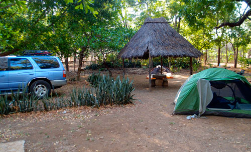 Our campsite in central Nicaragua.