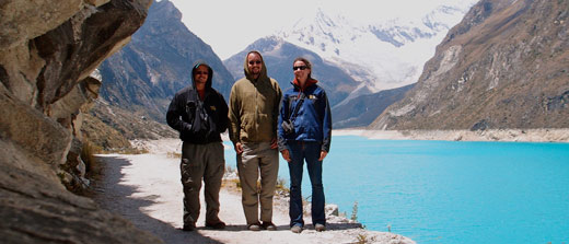 The three of us at Lake Paron in Peru.