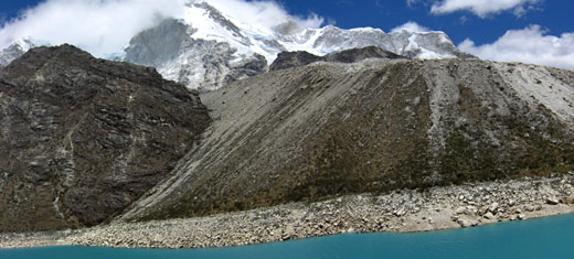 A panorama of Lake Paron.