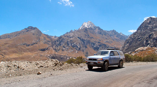 Parked at over 12,000 feat heading to Chavin.