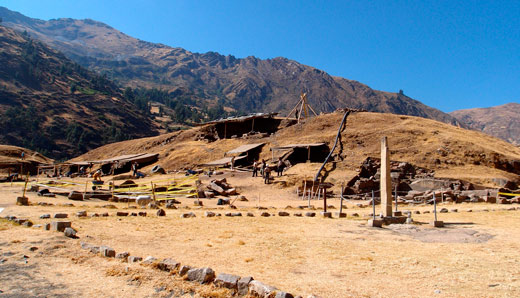 The ruins at Chavin de Huantar, currently under excavation.
