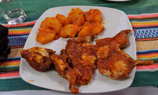 Deep fried Cuy (Guinea Pig).