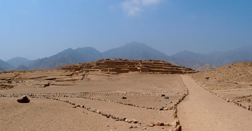 The ruins at Caral, the oldest city in the Americas.