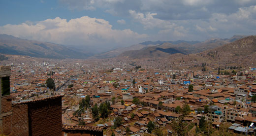 The Cusco skyline.