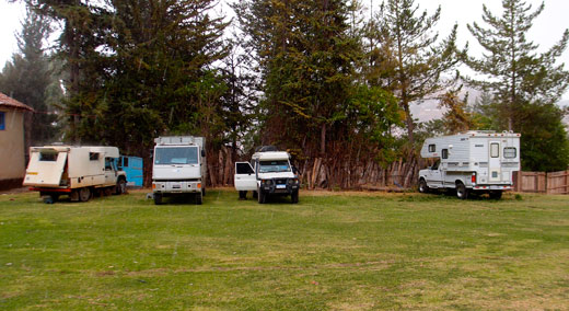 Lots of other overlanders at our campsite in Cusco.