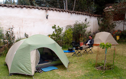 Our campsite in Chavin.