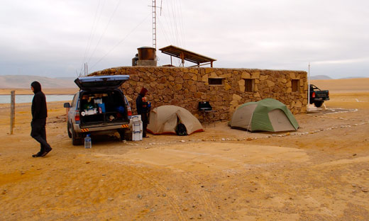 Our campsite at Paracas Nature Reserve.