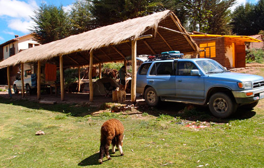 Our camping site in Cusco at Quinta Lala.