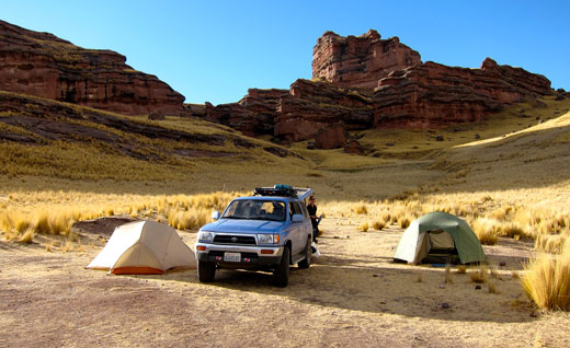 Our campsite at Tinajani Canyon.