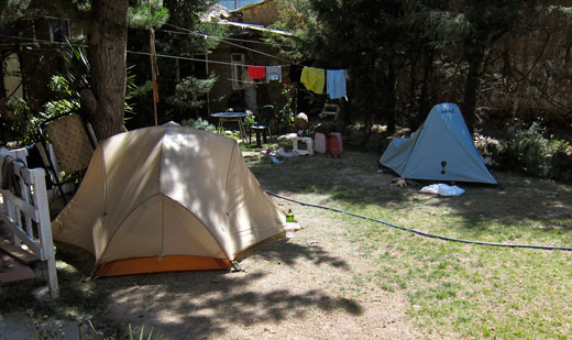 Our campsite at Jo's Place in Huaraz.
