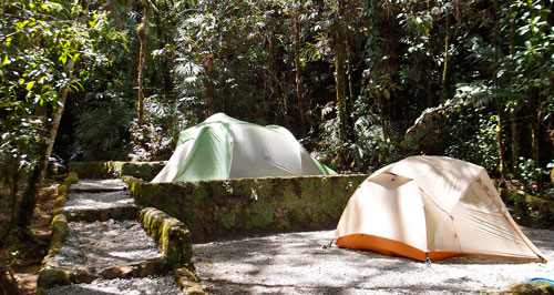 Our campsite in the quetzal reserve.