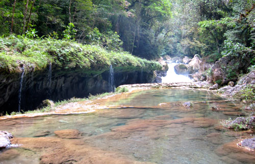 The river leading into Semuc Champey.
