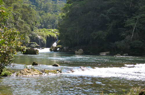 The river leading out of Semuc Champey.