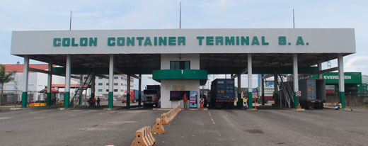 Container loading terminal for Evergreen Shipping in Colon