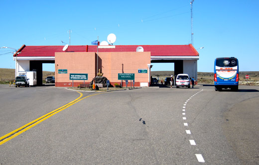 The first border post, do not stop here if you're heading into Chile.