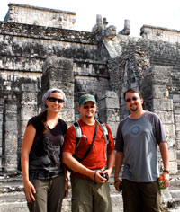 The three of us at Chichen Itza.