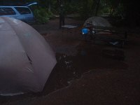 tent in lots of water
