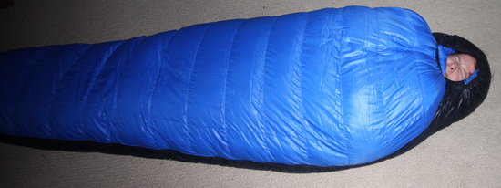 Jessica in a Western Mountaineerin Sleeping Bag
