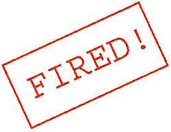 Fired! Stamp