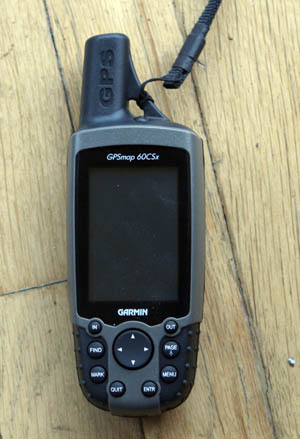 GPS Garmin 60csx - Gear we can't travel without