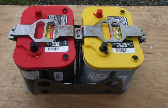 Red top and Yellow top Optima Battery in RuffStuff box