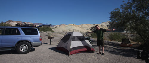 Campsite in Death Valley.
