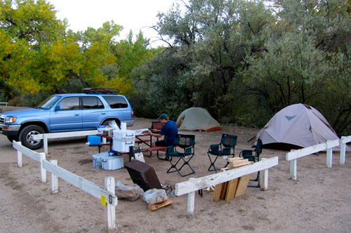 Our campsite in Moab.