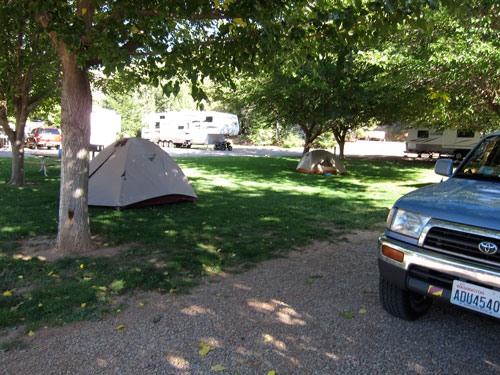 Our campsite in Leeds, UT.