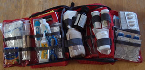 Our first aid kit.