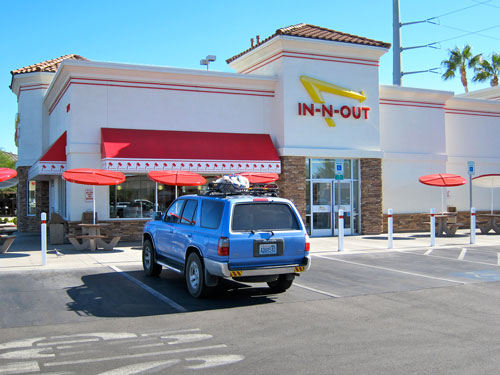In-N-Out burger in Las Vegas.